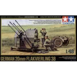 Tamiya 1:48 German 20mm flak 38 harcjármű makett
