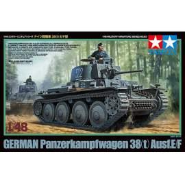 Tamiya 1:48 Panzer 38(t) Ausf.E/F harcjármű makett