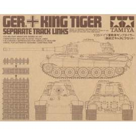 Tamiya 1:35 Pz.Kpfw.VI King Tiger Sd.Kfz.182 Track Links