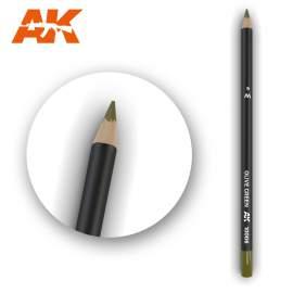 Oliva zöld színű akvarell ceruza - Watercolor Pencil Olive Green