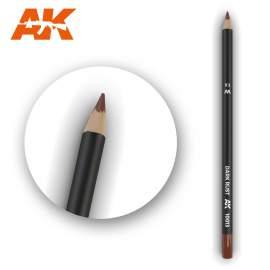 Sötét rozsda színű akvarell ceruza - Watercolor Pencil Dark Rust