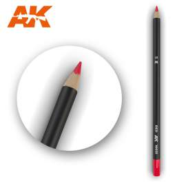 Piros színű akvarell ceruza - Watercolor Pencil Red