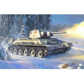 Zvezda 1:35 Soviet medium tank T-34/76 MOD.1943 Uralmash harcjármű makett