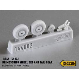 Rescue 1:144 DH Mosquito wheel set and tail gear