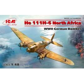 ICM 1:48 Heinkel He-111H-6 North Africa, WWII German Bomber repülő makett