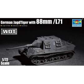 Trumpeter 1:72 Pz.Kpfw.VI King Tiger (Porsche Turret) 105mm kwk L/68 German