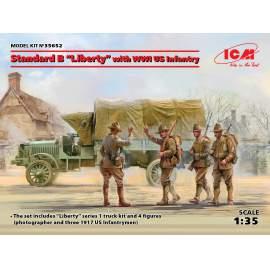"ICM 1:35 Standard B ""Liberty"" with WWI US Infantry"