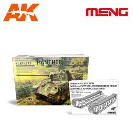 Meng Model 1:35 German Medium Tank + Sd.Kfz.171 Panther Tracks & Movable Ru