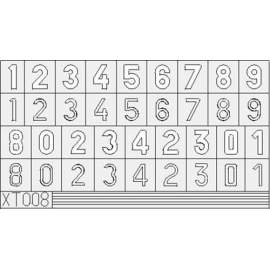Eduard mask 1:35 German Numbers Large