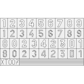 Eduard mask 1:35 German Numbers Small