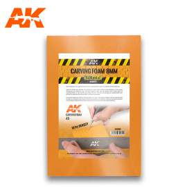 AK Interactive Carving foam 8mm A5 Size (228 x 152 mm)