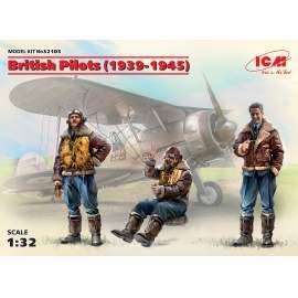 ICM 1:32 British Pilots (1939-1945) (3 figures) figura makett