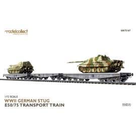Modelcollect 1:72 WWII German STUG E50/75 transport train