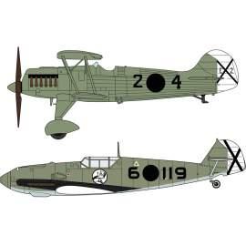 Hasegawa 1:72 HE-51B-1 & Bf109E-3 legion Condor