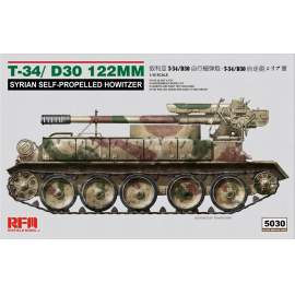 Ryefield model 1:35 T-34/D-30 122MM Syrian Self-propelled Howitzer