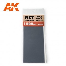 AK Interactive Wet Sandpaper 1000 Grit. 3 units