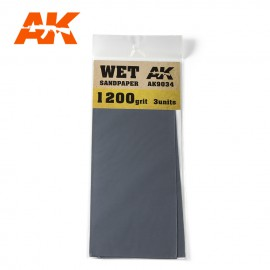 AK Interactive Wet Sandpaper 1200 Grit. 3 units