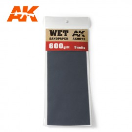 AK Interactive Wet Sandpaper 600 Grit. 3 units