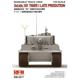 Ryefield model 1:35 Workable track links for Tiger I late