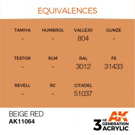 Acrylics 3rd generation Beige Red 17ml