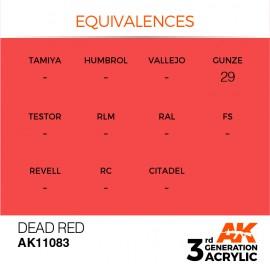 Acrylics 3rd generation Dead Orange 17ml