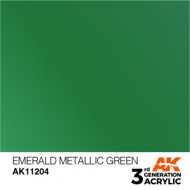 Acrylics 3rd generation Emerald Metallic Green 17ml