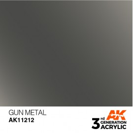 Acrylics 3rd generation Gun Metal 17ml