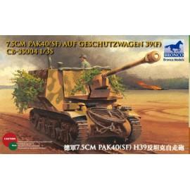 Bronco Models 1:35 7.5cm Pak40(Sf) auf Geschutzwagen 39H(f)
