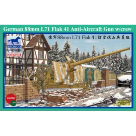 Bronco Models 1:35 German 88mm L71 Flak 41 Anti-Aircraft Gun w/Crew