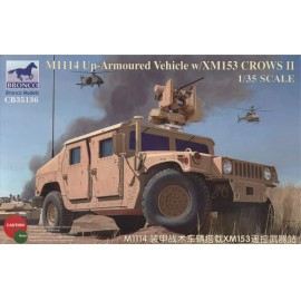 Bronco 1:35 M1114 Up-Armoured Vehicle w/XM153 Crows II