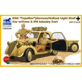 "Bronco 1:35 DAK ""Topolino"" (German/Italian) Light Staff Car w/Crew & IF8 In"