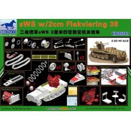 Bronco 1:35 sWS w/2cm Flakviering 38