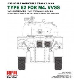 Ryefield model 1:35 Tracks for British Sherman VC Firefly, M3, M4A1, M4A4,