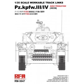 Ryefield model 1:35 Tracks for Pz.III/IV.early production (40cm)