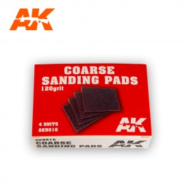 AK Interactive Coarse sanding pads 120 Grit. 4 units