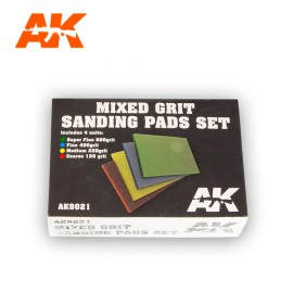 AK Interactive Mixed grit sanding pads 4 units