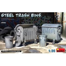 Miniart 1:35 Steel Trash Bins