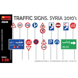 Miniart 1:35 Traffic Signs. Syria 2010´s